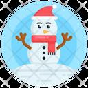 Iceman Snowman Snow Sculpture Icon