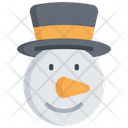 Snowman Character Holidays Icon
