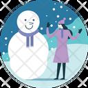 Snowman Snow Decoration Icon