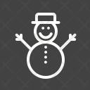 Snowman Celebration Decoration Icon