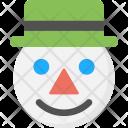 Snowman Face Icon
