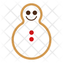 Snowman gingerbread Icon