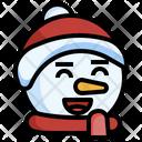 Snowman Happy Happy Fun Icon