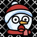 Snowman Surprised Smileys Emoji Icon