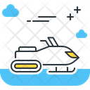 Snowmobile Snow Scooter Vehicle Icon