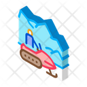 Snowmobile Winter Transport Icon