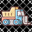 Snowplow Bulldozer Ice Icon