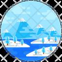 Landscape Snowscape Winter Landscape Icon