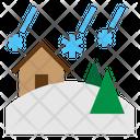 Snowstorm Blizzard Disaster Nature Risk Avalenche Icon