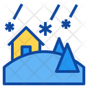 Snowstorm Blizzard Disaster Icon