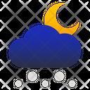 Snowy Night Moon Icon