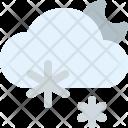 Snowy Night Cloud Icon