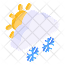 Snowy Weather Snow Day Snowflakes Icon