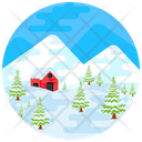 Winter Landscape House Icon