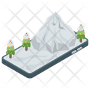 Snowy Mountains Snowy Alps Hill Station Icon