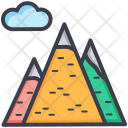 Mountains Hills Snowy Icon