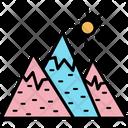 Mountains Hills Snowy Mountains Icon