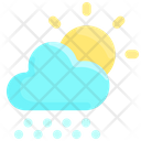 Snowy Day Sun Icon