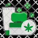 Cannabis Healthcare Foam Icon