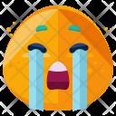 Sobbing Emoji Face Icon