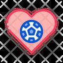 Soccer Love Icon
