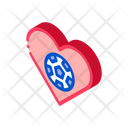Football Heart Love Icon