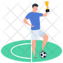 Sport Outdoor Game Soccer Player Icon