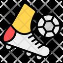 Soccer Player Football Kick Football Player Icon