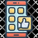 Social Media Mobile Icon