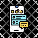 Social Application Communication Icon
