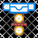 Social Distance Canteen Icon