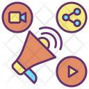 Social Announcement Icon