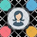 Social Circle Public Network Sharing Network Icon