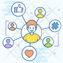 Social Connection User Connection User Interaction Icon