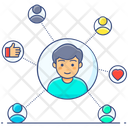 Social Network Personal Contacts Personal Connection Icon