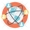 Social Connection Global Icon
