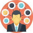 Social Connectivity Interaction Icon