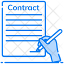 Social Contract Agreement Social Settlement Icon