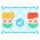 Protection Social Distance People Icon