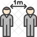 Distancing Distance Rules Icon