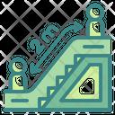 Social Distance Escalator Distancing Icon