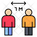 Social Distance Distance People Icon