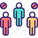 Social Distance Avoid Crowds Avoid Crowd Icon