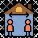 Distancing Social Home Icon