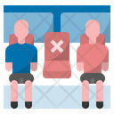 Social Distancing Covid Coronavirus Icon