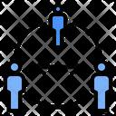 Social Distancing Space Remote Icon