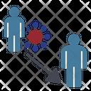 Transmission Cornavirus Spread Icon
