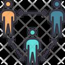 Social Distancing Three Icon