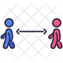Social Distancing Walking Coronavirus Icon