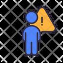 Social Distancing No Coronavirus Icon